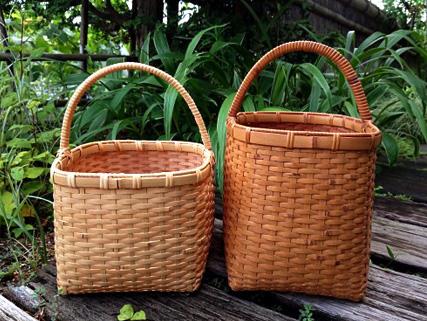 二つの竹のバッグ