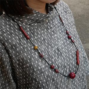 自然素材を組み合わせたネックレス