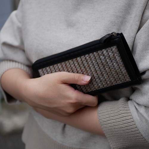 竹財布シルバー