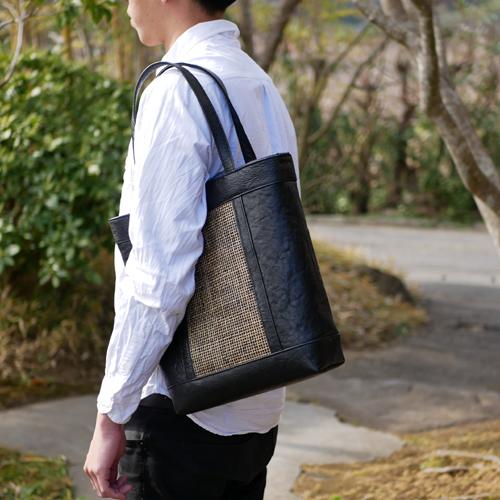 四つ目編みトートバッグ