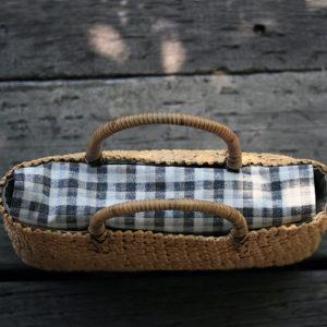 跳び石畳編みバッグ