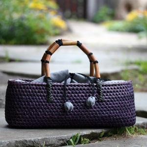 もろこし編みバッグ
