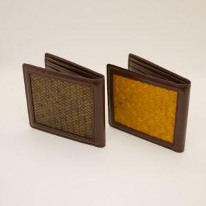 網代編み二つ折り財布