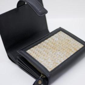 竹網代編みマルチ財布