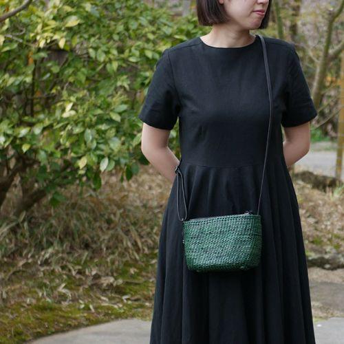 石畳編みポシェット