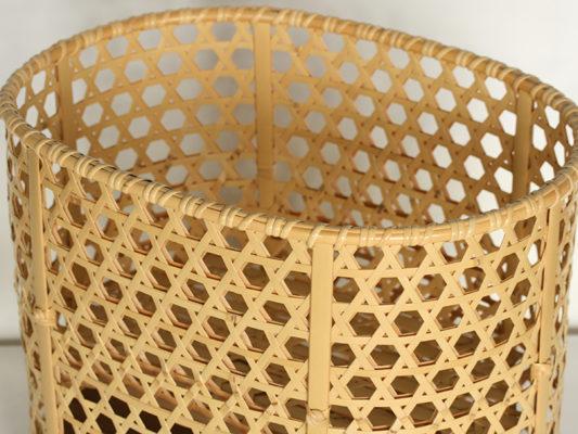 六つ目編みテーブル台