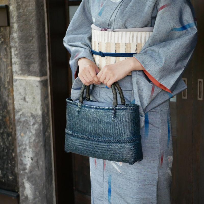網代×桜編みバッグ
