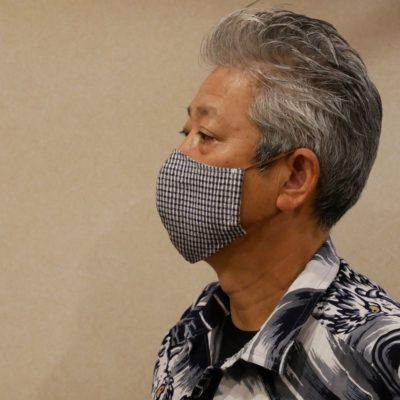 小千谷縮立体マスク