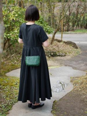 コイル編みショルダーバッグ