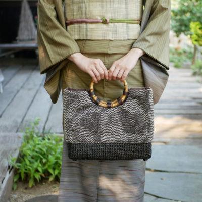 石畳×刺し子コラボバッグ