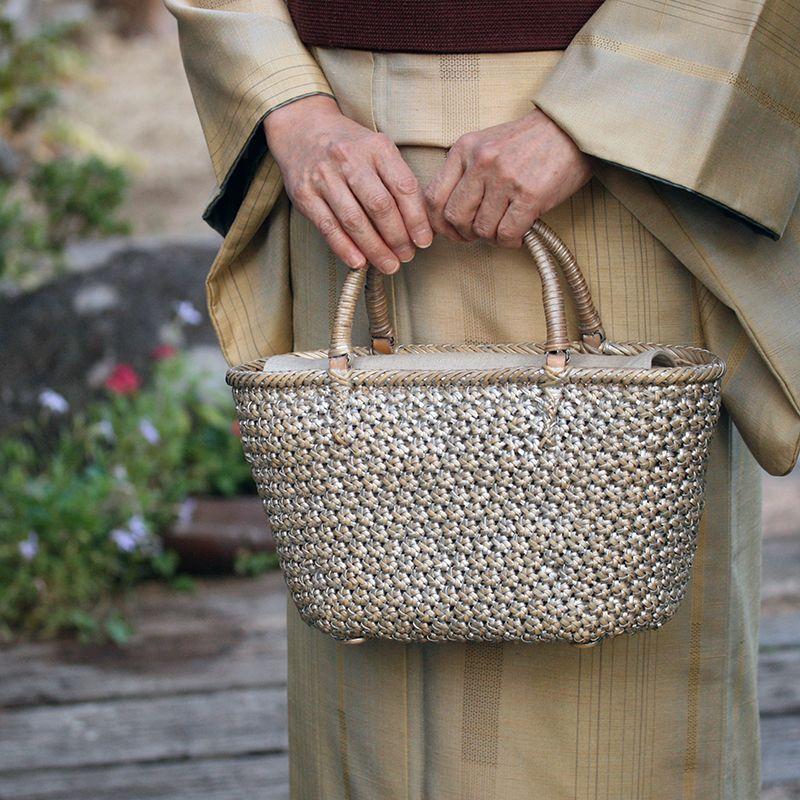 シルバー桜編み
