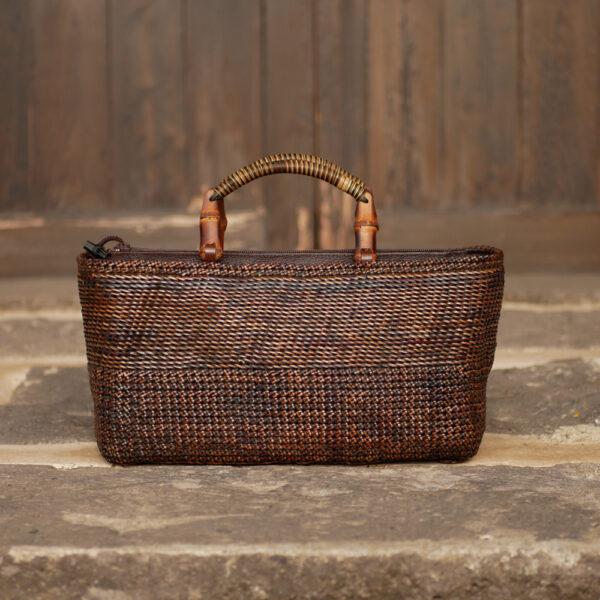 石畳編みバッグ