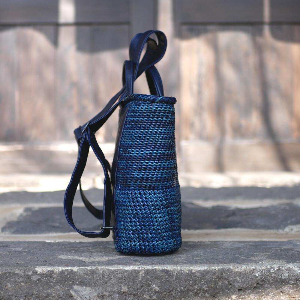 石畳編みリュック
