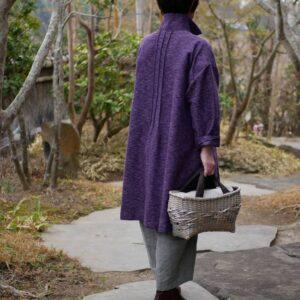ござ目×やたら編みバッグ