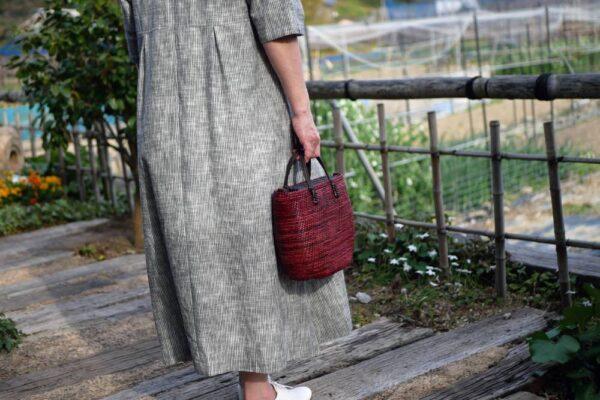 コイル編み2wayバッグ