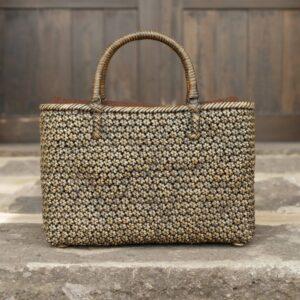 桜編みバッグ