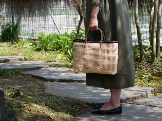 四つ目編みバッグ
