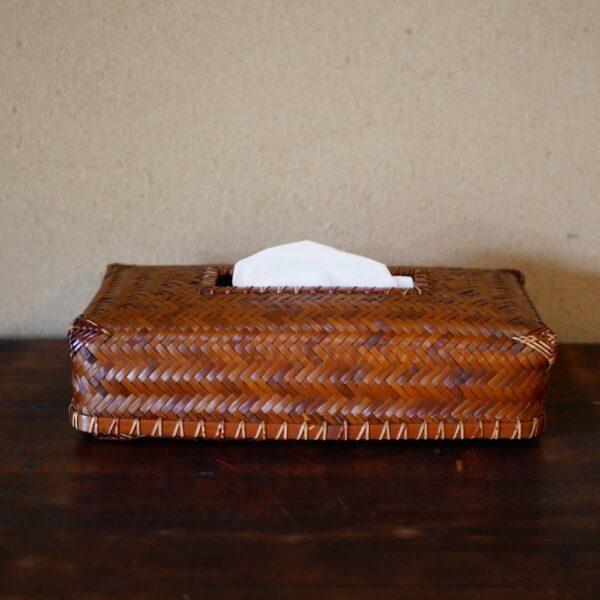 網代編みティッシュボックス